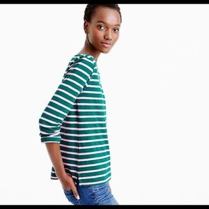 NWT | jcrew | striped boatneck tee